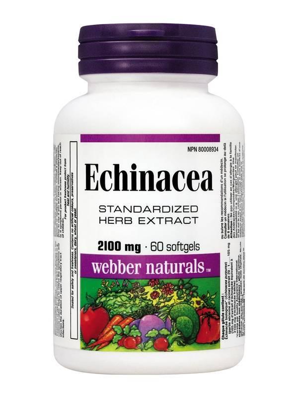 Echinacea Extract 2100 mg 60 softgels
