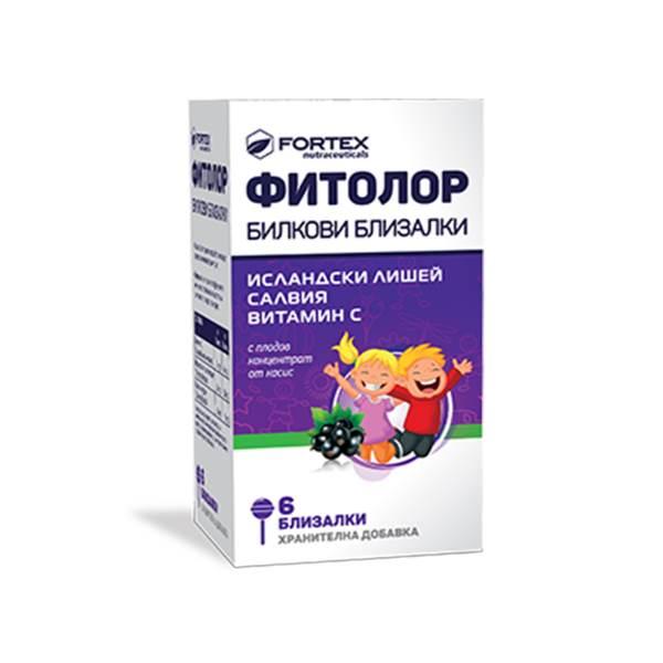 Phytolor herbal lollipops x6