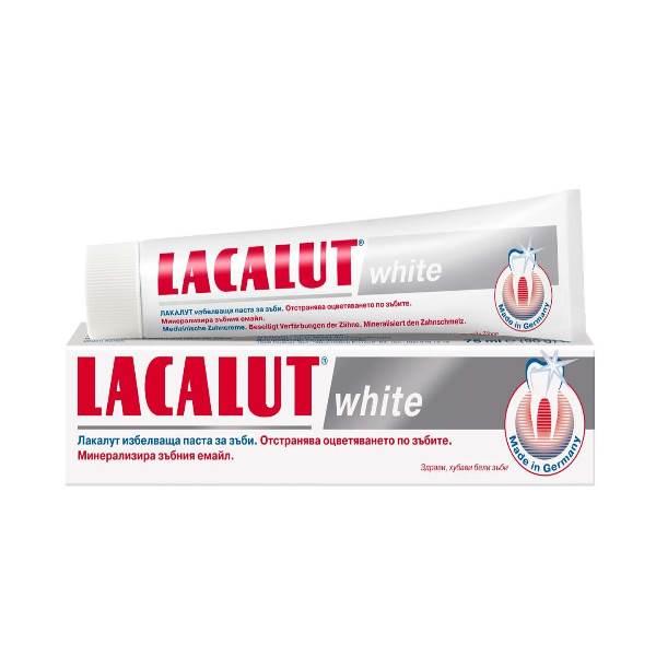 LACALUT WHITE WHITENING TOOTHPASTE x75ml